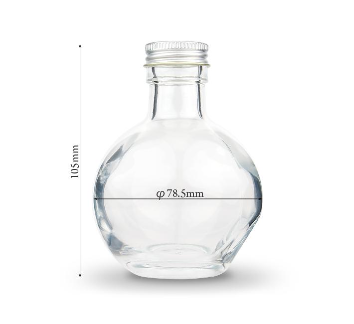 ハーバリウム用球体ガラス瓶180mlサイズ
